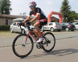 Daniel Meier auf dem Rad.